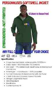 Soft Shell Jacket FREE CUSTOM PERSONALISED EMBROIDERED LOGO OF YOUR CHOICE!
