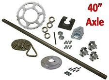 "Drifting Trike 40"" Axle Kit Set #40 Chain Sprocket Wheel Hubs Package Parts New"