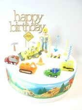 BOB the BUILDER Cake Decoration Set  - Cake Topper Figure Decoration Birthday