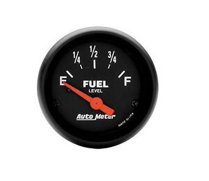 """AUTOMETER Z-Series ELECTRIC UNIVERSAL GM CHEVY FUEL LEVEL GAUGE 2-1/16"""" (52mm)"""