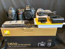Nikon D D610 24.3MP Digital SLR Camera - Black (Kit w/ AF-S G ED VR 24-85mm...