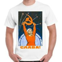 Soviet Space Astronaut Propaganda Cool Retro T Shirt 1022