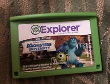 Leapfrog Leapster Explorer Disney PIXAR Monster University Game Leap Pad 2 3