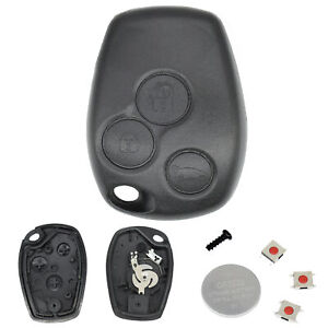 For Renault Clio Master Kangoo 3-Button Switch Remote Key Shell Fob Case+Battery