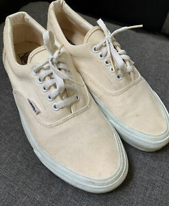 Vintage Vans Era 10 Off White Cream Skateboard Shoes Classic  Made In USA