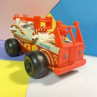 Vintage Fisher Price No 720 Pull Along Fire Engine 1968 Fair Condition