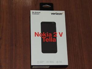 "New - Verizon PREPAID Phone NOKIA 2 V Tella BLUE 5.45"" HD 4G LTE - NOKTA1221PP"
