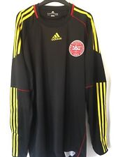 2010/2011 Denmark goalkeeper football shirt XL men's Adidas BNWT rare Danmark