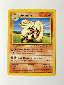 ARCANINE - Base Set - 23/102 - Pokemon Card - 1999 - WOTC - Non-Holo -- EXC-NM