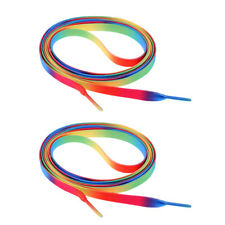 1 Pair Ice Skates Shoe Lace Strings 180cm Beautiful Color Pattern Rainbow