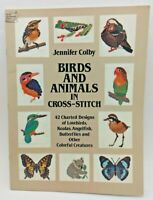 Birds & Animals in Cross Stitch by Jennifer Colby 1983 - 42 Charted Designs