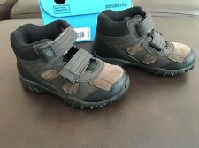New Stride Rite Boy's Boots Rugged Ritchie 2 Dark Brown Leather Size 9.5W Hiking
