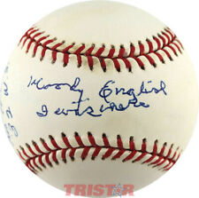 WOODY ENGLISH SIGNED BASEBALL INSCRIBED BABE RUTH...1932 W.S...I WAS THERE PSA