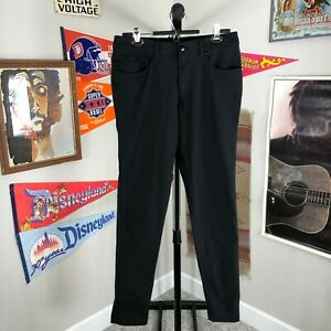 Lululemon ABC Slim Fit Golf Walking Pants Black Stretch Men's 31x32