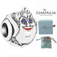 Genuine Chamilia Silver Disney Little Mermaid Ursula Charm Bracelet Bead NEW