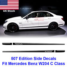 AMG 507 Stripes Decals Sticker Mercedes Benz W204 C200 C250 C300 C450 C63 Black