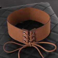 Women Velvet Ribbon Wide Collar Choker Necklace Gothic Handmade Jewelry Brown