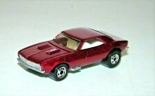 Hot Wheels '67 Camaro Blackwall RARE Red Metallic Paint 1982 Malaysia Near Mint