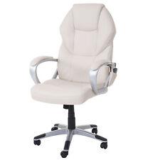 Massage-Bürostuhl MCW-A69, Chefsessel, Heizfunktion Massagefunktion, creme