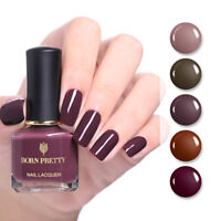 BORN PRETTY 6ml Peel Off Nail Polish Nude Brown Nail Art Manicure Varnish Decor