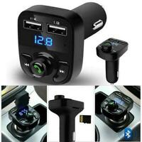 1x Wireless Bluetooth Handsfree Car Kit FM Transmitter Player Dual USB Charger