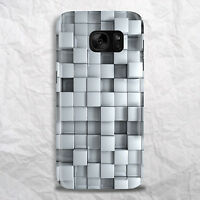 Silver Metal Cubes Rubix Colour Phone Case for IPhone HTC Samsung Sony LG Huawei