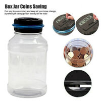 Plastic Large Digital Coin Counting Money Saving Box Electronic Piggy Bank Clear