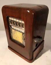 "1 Cent ""Deuces Wild"" Slot Machine Trade Stimulator Wood Bennett Paul Co. 1938"