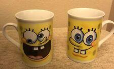 SPONGE BOB 2010 8 OZ PAIR VIACOM COFFEE MUGS/CUPS