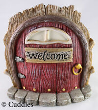 Fairy Garden Door Mini Figurine Ganz Outdoor Fantasy Welcome Sign Red New