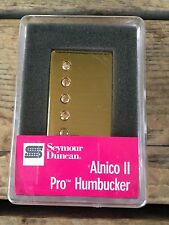 Seymour Duncan Alnico II Pro Humbucker Neck Pickup Gold Cover APH-1n 11104-01-GC