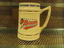 BUFFALO BISONS Baseball VINTAGE 1990 Season Ticket Holder Ceramic Mug Stein Beer