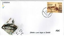 Kosovo Stamps 2020. The First Albanian School in Stubëll. Church. FDC MNH