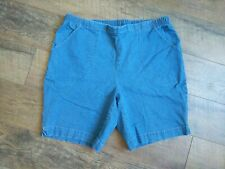 JMS Just My Size Women's Plus Size 2X Blue Denim Jean Shorts Elastic Waist