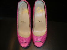 Christian Louboutin Original Pumps High Heels Gr. 37 in Pink, 12cm Absatz