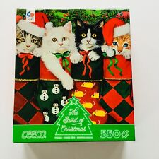 New Ceaco Cats Puzzle The Spirit Of Christmas in Stockings 550 Piece