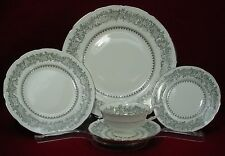 COALPORT china SILVER WEDDING pattern 5-piece PLACE SETTING