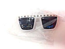 New NEFF Spikes Sunglasses Gloss White Frame Gray Lense OSFA BW1