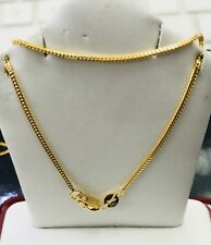 18K Solid Yellow gold franco Chain Necklace 3.00 gram 18 inch Lobster clasp