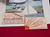 Vintage 1950s  Barcelona / Palma Spain 2  Panorama Booklets 10 Phots Each