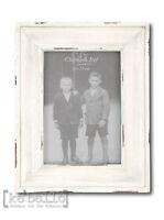 Bilderrahmen Weiß Holz  17X22  Clayre & Eef Fotorahmen Shabby chic 10x15