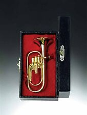 Miniature Gold Brass Tuba Miniature with Case (CGTU10) 2 Inches