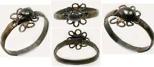 "Medieval Roman Byzantine Intricate Wire Flower + ""Faux Gemstone"" Ring AD900 Sz6¼"