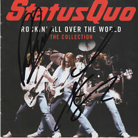 STATUS QUO personally signed CD cover ROCKIN ALL OVER THE WORD - ROSSI & PARFITT