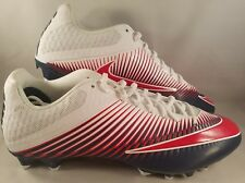 Nike Vapor Speed 2 TD Low Football Cleats Men's Size 16 Navy Blue Red White