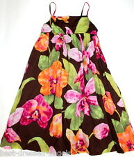 GAP KIDS Beatiful Brown Tropical Floral Maxi Dress Girl Size 6-7 Only worn once!