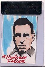 BREYGENT MOVIE POSTER SKETCH CARD HUMPHREY BOGART 1/1 THE MALTESE FALCON BGS 9