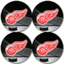 Detroit Red Wings Hockey Rubber Round Coaster set (4 pack) / RNDRBRCSTR2070