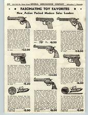 1947 PAPER AD Toy Cowboy American Cap Guns Big Horn Pistol Kilgore Ranger Presto