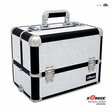 Makeup Artist Train Case Cosmetic Storage Organizer Sunrise Crystal Collection